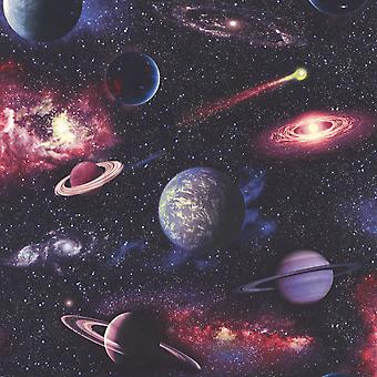 Space Planets Wallpaper Multi Rasch 815429