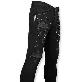 Skinny Jeans - Jeans - Skull Color Black
