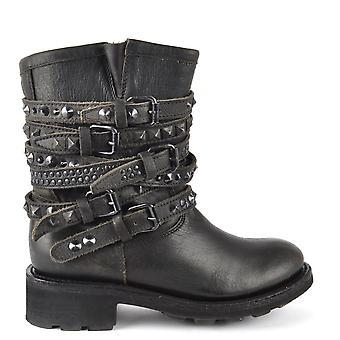 Ash Footwear Tempt Black Washed Studded Boot