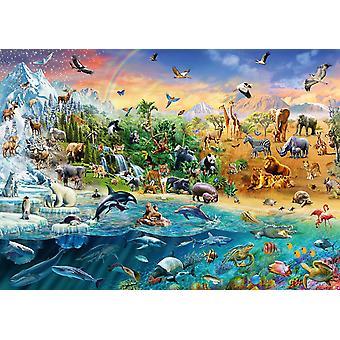 シュミット動物王国ジグソー パズル (1000 ピース)
