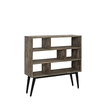 Light & Living Cabinet Open 100x30x100cm Taburico Mix Wood-Matted Black