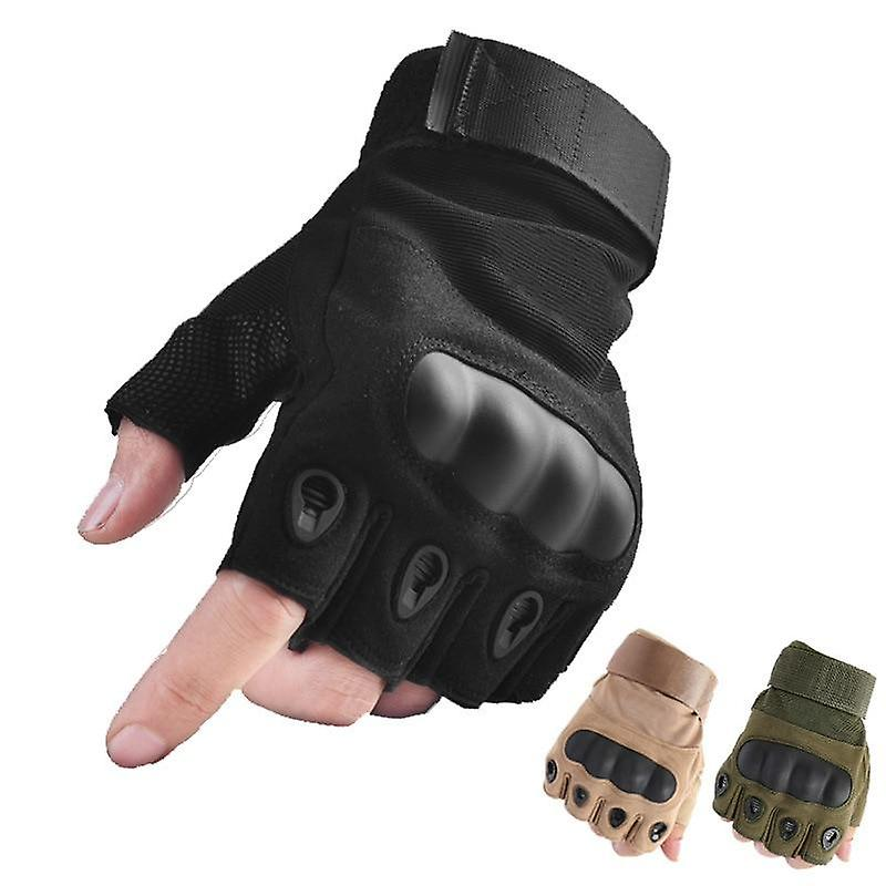 Outdoor Tactical Fingerless Gloves Military Army Shooting Hiking Hunting Climbing Cycling Riding