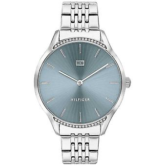 Tommy Hilfiger Gray   Stainless Steel Bracelet   Blue Dial   1782210 Watch