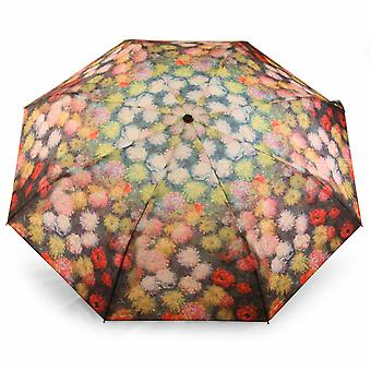 Umbrella automatic Pocket umbrella motif flowers of Claude Monet