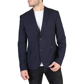 Guess men's blazer blue m83n00