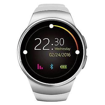 Stuff Certified® Original KW18 Smartwatch Smartphone Fitness Sport Activity Tracker Watch OLED Android iOS iPhone Samsung Huawei Silver