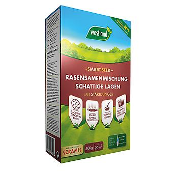 WESTLAND® Smart Seed - Lawn seed mixture shady layers, 500 g for 20 m2