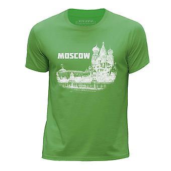 STUFF4 Мальчика круглый шею Т-маечка/Москва ориентир эскиз/зеленый