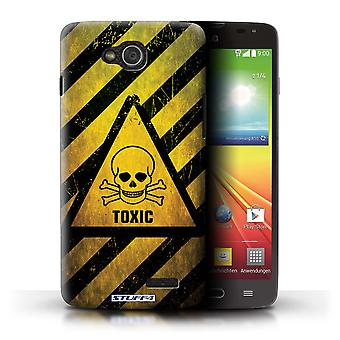 STUFF4 Case/Cover for LG L90 Dual/D410/Toxic/Skull/Hazard Warning Signs