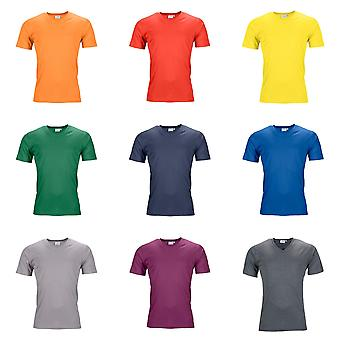 James and Nicholson Mens actif V Neck T-Shirt