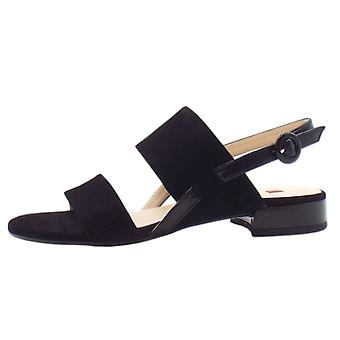 Högl 7-10 1112 Ribby Chic Sandals In Black Suede