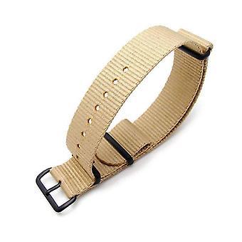 כתפיות n. t. o שעון רצועה miltat 20mm g10 שעון צבאי בליסטי רצועת ניילון לזרוע, pvd חול-חול