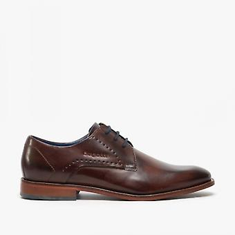 Bugatti 312-85602 Mens Leather Derby Shoes Brown