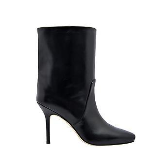 Stuart Weitzman Ebbblackleather Women's Black Leather Ankle Boots