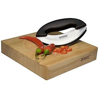 Dorre Herb & Vegetable Shearer m Kulhon muotoinen puinen levy Dia 20 cm