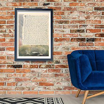 William Blake - America A Prophecy Plate 11 Poster Print Giclee