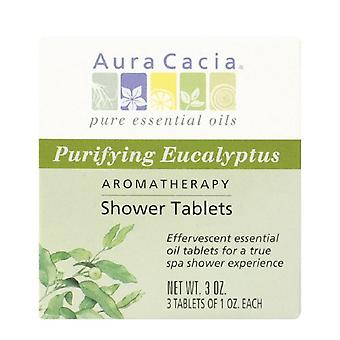 Aura cacia shower tablets, purifying eucalyptus, 3 ea