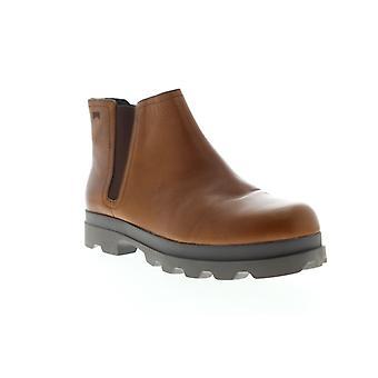Camper Mil Womens Brown Leather Slip Op Chelsea Boots