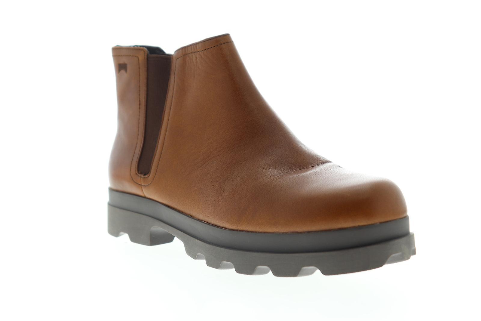 Camper Mil Damska Brązowa Skóra Slip On Casual Dress Boots FkrbN