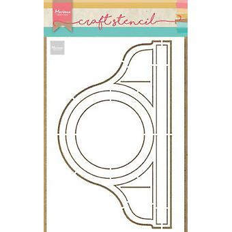 Marianne Design Craft Stencil Pendule Ps8049 21x15 cm