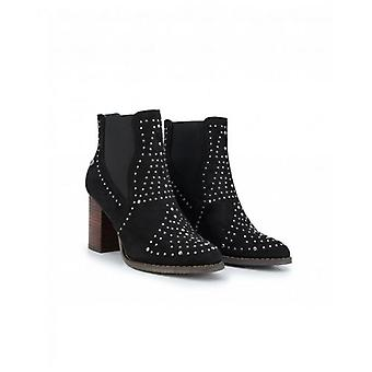 Xti Stud Detail Block Heel Ankle Boots