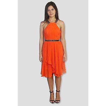 Rochelle high neck chiffon mini dress