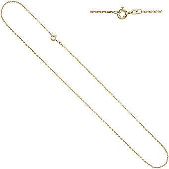 Naisten ankkuriketju 333 keltainen kulta timantti 1,6mm 60cm kultaketju kaulakoru kultaketju