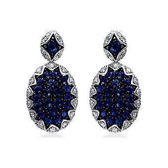 Diamond Gemstone Earrings - 750/- WG - 0.57 ct. - 1.58 ct. - 2H571W8-1