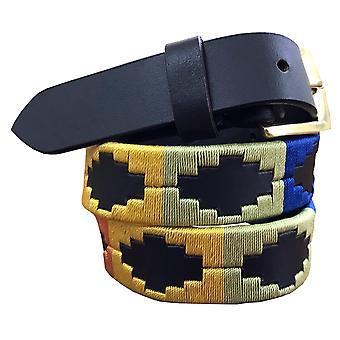 Carlos diaz kids unisex  brown leather  polo belt cdkpbhk4