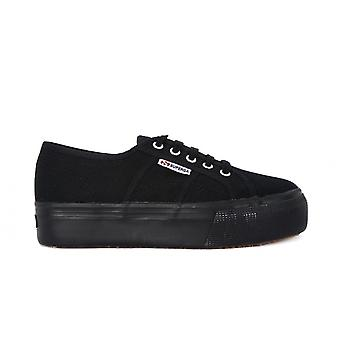 Superga Cotu Full Black UP And Down 2790ACOTW991 universal all year women shoes