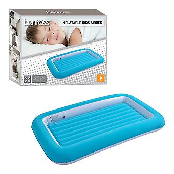 Benross Single Flocked Inflatable Kids Airbed Blue 152 x 89 x 17.5cm