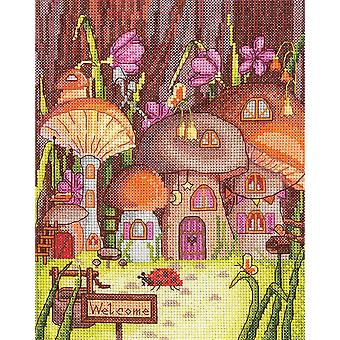 Andriana Cross Stitch kit - Mushroom Village