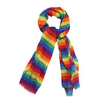 Rainbow Stripe Polyester Fashion Scarf