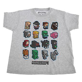 Minecraft Childrens/Kids Block Graphic T-Shirt
