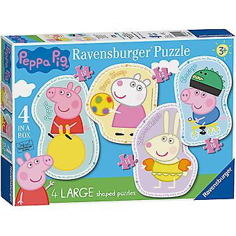 Ravensburger Peppa Pig 4 a forma di (4, 6, 8, 10pc) Puzzle