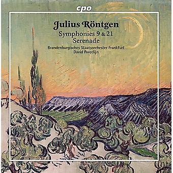 Rontgen / Brandenburgisches Staatsorchester - Julius Rontgen: Symphonies Nos 9 & 21 [CD] USA import