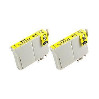 RudyTwos 2 x замена единицы чернил Epson сова желтый совместим с Stylus фото 79, 1400, 1410, 1500 Вт, P50, PX650, PX660, PX700W, PX710W, PX720WD, PX730WD, PX800, PX800FW, PX810FW, PX820FWD, PX830F