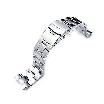 Strapcode watch bracelet 22mm super oyster watch bracelet for seiko snzf17 sea urchin, diver clasp, brushed