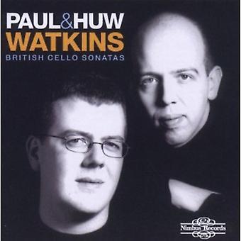 Paul Watkins & Huw - brittiska Cello Sonatas [CD] USA import