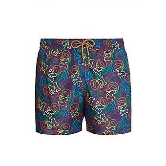MISSONI Mare Navy Logo Print Swim Shorts