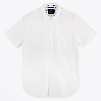 Scotch & Soda  - Jacquard Stripe Shirt - White