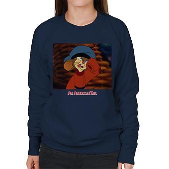 An American Tail Fievel Angry Women's Sweatshirt