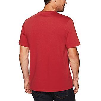 Essentials Men''s 2-Pack Loose-Fit Short-Fit Camisetas Crewneck de Manga Curta, Vermelho,...