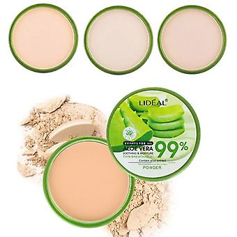 Waterproof 99% Aloe Vera Moisturizer Face Powder - Smoothing Pressed Powder Breathable Makeup