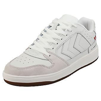 hummel St Power Play Mens Fashion Trainers in Marshmallow