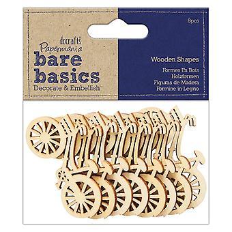 Papermania Bare Basics Wooden Shapes Bicycle (8pcs) (PMA 174749)
