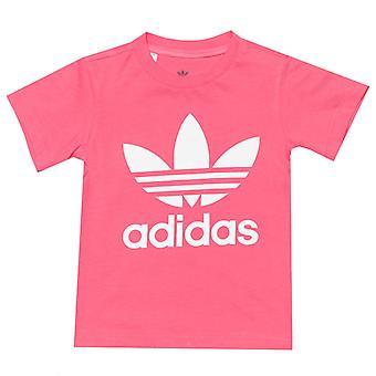 Girl-apos;s adidas Originals Baby Trefoil T-Shirt en rose