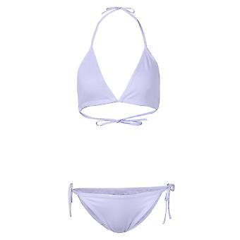 Sexy halter backless plunge woman bikini swimwear