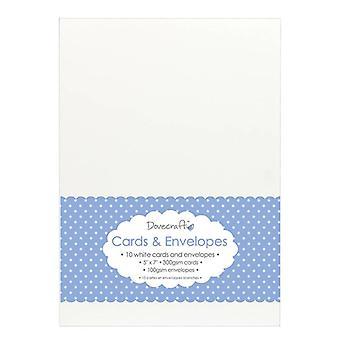 Dovecraft 10 Valkoinen 5x7 Kortit &; Kirjekuoret