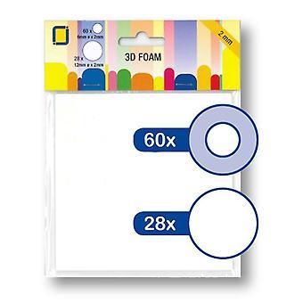 JEJE Produkt 3D Foam Round Ø 6 mm & Ø 12 mm x 2 mm